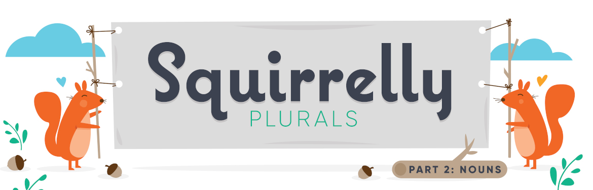 Literary Life Hack #11: Squirrelly Plurals, Part 2: Nothin' but Nouns Image
